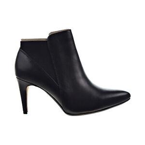 Clarks Laina Violet Women's Ankle Boots Black Leather Shoes 26139487