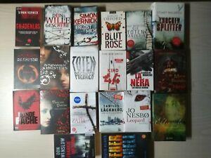 Buchpaket 20 Krimi Thriller Belletristik  Urlaubslektüre