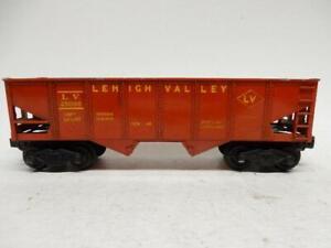 RARE POSTWAR LIONEL GLOSSY RED  6456 LEHIGH VALLEY HOPPER