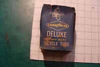 vintage unused BIKE tube: GOODYEAR Deluxe HEAVY DUTY bicycle tube 26 x 1.25