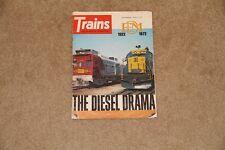 ~ Vintage Trains Magazine of Railroading September 1972 The Diesel Drama ~