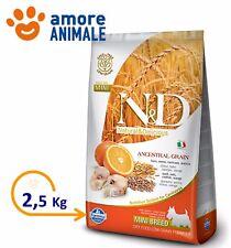 Farmina N&D Low Grain Adult Mini Merluzzo e Arancia da 2,5 Kg Crocchette cani