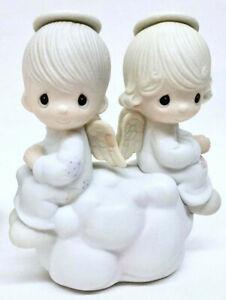 Rare Vintage 1979 Precious Moments Angel Boy Girl Samuel Sam Jonathan David Gift