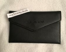NEW Michael Kors BLACK Credit Card Holder - Magnetic Button Closure - Brand New