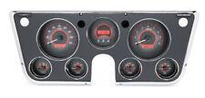Dakota 67-72 Chevy Pickup Truck Analog Dash Gauge Carbon Red VHX-67C-PU