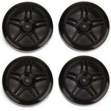 4Pcs Smooth Tires Black Five-pointed Star Wheel Rims For RC 1: 10 Drift Car
