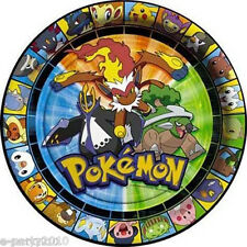 POKEMON Diamond and Pearl SMALL PAPER PLATES (8) ~ Birthday Party Supplies Cake