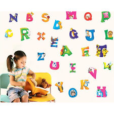 A-Z Alphabet & Animals PVC Mural Wall Stickers Nursery Kids Room Decals @#JF