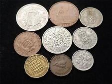 COINAGE OF ELIZABETH II HALF-CROWN - FARTHING COINS