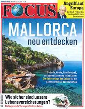 FOCUS Magazin - Heft 21/2016 vom 21.5.2016: Mallorca  +++ wie neu +++
