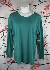 Peaches Uniforms-Size 2X-New Women's Teal Long Sleeve Round Neck Top