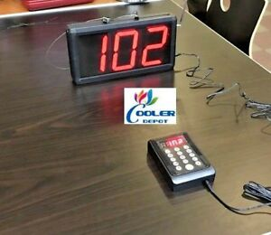 3-Digit Take A Number Calling System w/ Voice Digital Restaurant Butcher Deli