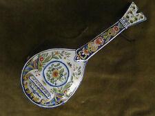 Belle mandoline faience desvres decor rouen (fin XIXeme)