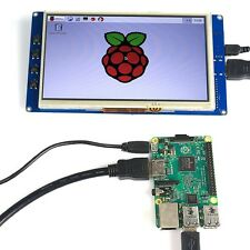"""7"""" USB Capacitive Touch Screen Display LCD 800x480 HDMI For Raspberry Pi B+/Pi2"""