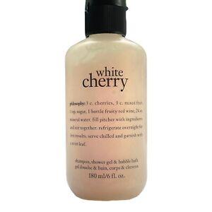 Philosophy White Cherry Shampoo, Shower Gel & Bubble Bath 6 oz ~ New