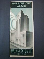 1930s New York City...' Hotel Albert ' ...Art Deco Cover,aerial map