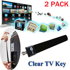 2* Clear Tv Key Hdtv Free Tv Stick Satellite Indoor Digital Antenna Ditch Cable
