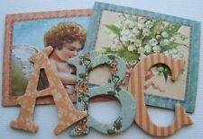 Graphic 45 - HEARTS DELIGHT -  June A Place in Time - Chipboard Letters 1.5""