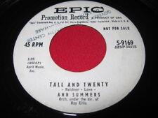 ANN SUMMERS 45 - TALL AND TWENTY - RARE TEEN PROMO