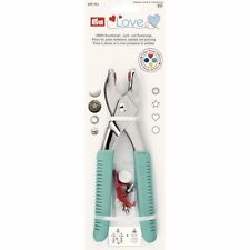 Prym Love Vario Pliers with ColorSnaps Tools and Piercing Tool, Metal, Turquoise