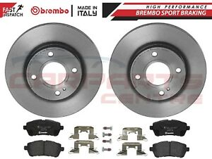 FOR FORD FIESTA MK7 2008- FRONT VENTED BREMBO BRAKE DISCS AND BREMBO PADS 258mm