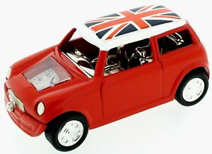 Novelty New Style Red Mini Car Miniature Clock with Union Flag on Roof  IMP 1091