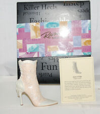 Just The Right Shoe by Raine Shoe Miniatures- Lace It Up Nib
