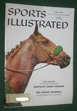 Sports Illustrated April 28, 1958  Kentucky Derby Preview Big League Baseball vg