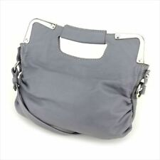 Francesco Biasia Shoulder bag Grey leather Woman Authentic Used C3457