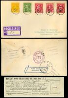 Nickel - 5¢ Fancy Cancel Registered Cover Nickel, LA 1930 - Stuart Katz