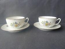Lot de 2 tasses et sous tasses en porcelaine de Limoges PP french antique