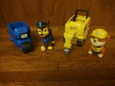 Paw Patrol Mini Vehicle Lot of 2 Vehicles Chase and Rubble