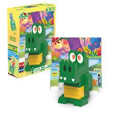 BIOBUDDI Swampies Gator Set - Eco Friendly Building Blocks for Kids