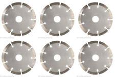 6x 115mm 11.4cm Amoladora angular Seco Disco de Diamante Hoja Piedra Cemento