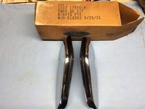 NOS 1972 FORD GALAXIE 500 LTD FRONT BUMPER GUARDS PART #D2AZ-17996-A