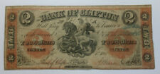 New listing Rare 1861 Canada $2 Two Dollar Bank Of Clifton Note Bill