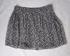 ZARA Fully Lined Pleated Floral Chiffon Mini Skirt ~ Size XS ~ NWOT