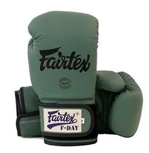 Fairtex Gloves Limited Edition BGV11 F Day Military Green MuayThai Boxing Gloves