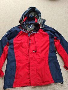 Womans Ladies Berghaus Size 12 Red Navy Coat Jacket Waterproof Gore-tex