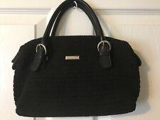 SALE!-Worthington Black Cotton Blend Knit Shoulder/Tote Handbag Purse 3Piece Set