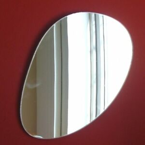 Long Pebble Shaped Mirrors, (Shatterproof Safety Acrylic Mirrors, Several Sizes)