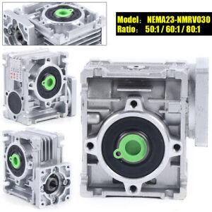 Worm Gear Speed Reducer NEMA23-030 Reduction Gearbox Ratio Gear Box 50/60/80:1