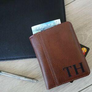 Personalised Mens Leather look Wallet, Groomsman Gift, Initial, Dad Grandad