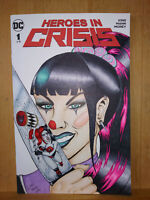DC Punchline Harley Quinn Reflection Original Comic Blank Sketch Cover Art