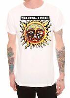 SUBLIME SUN LOGO -LBC- 40oz TO FREEDOM T-Shirt White NEW 100% Authentic