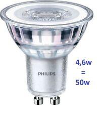 set da 5 pezzi Philips Led faretto GU10 4,6W 50W  36D 4000K luce fredda