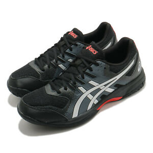 Asics Gel-Rocket 9 Black Sunrise Red Grey Men Volleyball Shoes 1071A030-010