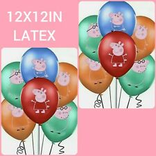 12X12IN LATEX PEPPA PIG BALLOONS