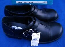 American Eagle Shanne Black Smooth Captoe T-Strap Babydoll Style Ladies  Size 9M