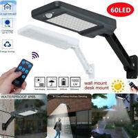 2X 60LED Solar Wall Street Light Dimmable  PIR Motion Sensor Outdoor Garden Lamp